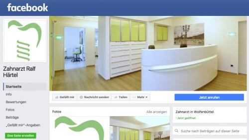 Facebookauftrit Zahnarzt Dr Ralf Haertel